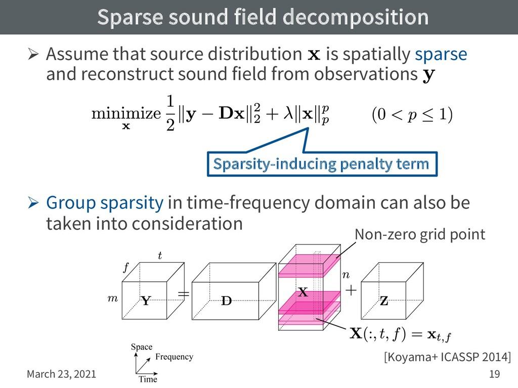 Sparse sound field decomposition Ø Assume that ...