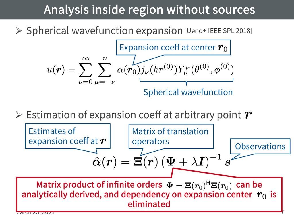 Analysis inside region without sources Ø Spheri...