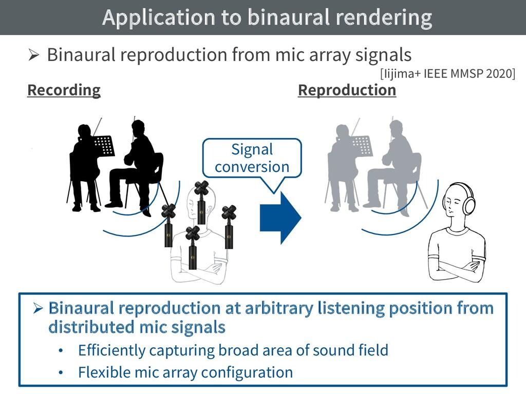 Application to binaural rendering Ø Binaural re...