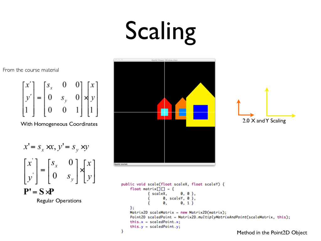 2.0 X and Y Scaling With Homogeneous Coordinate...