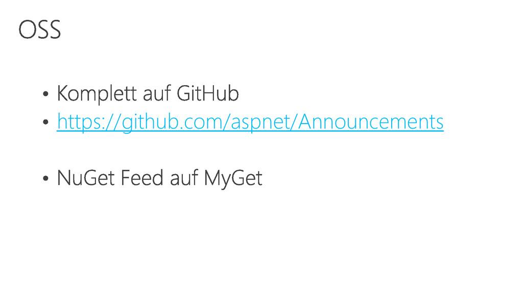 https://github.com/aspnet/Announcements