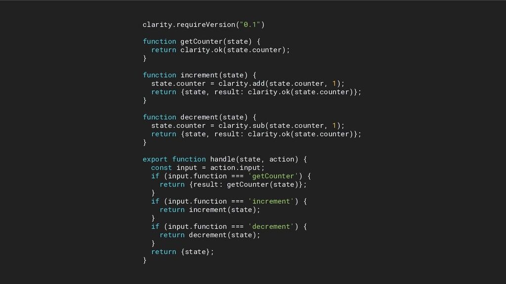 """clarity.requireVersion(""""0.1"""") function getCount..."""