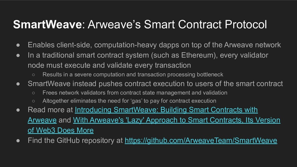 ● Enables client-side, computation-heavy dapps ...