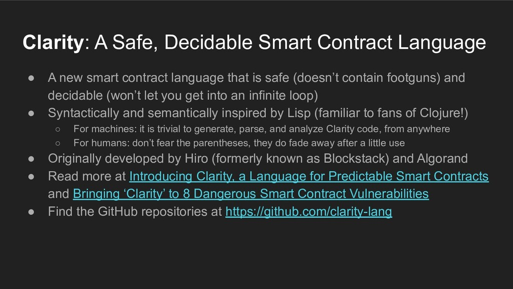 ● A new smart contract language that is safe (d...