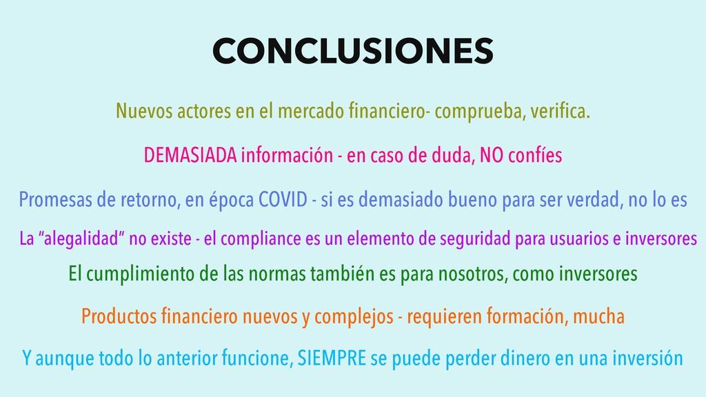 CONCLUSIONES Nuevos actores en el mercado financ...