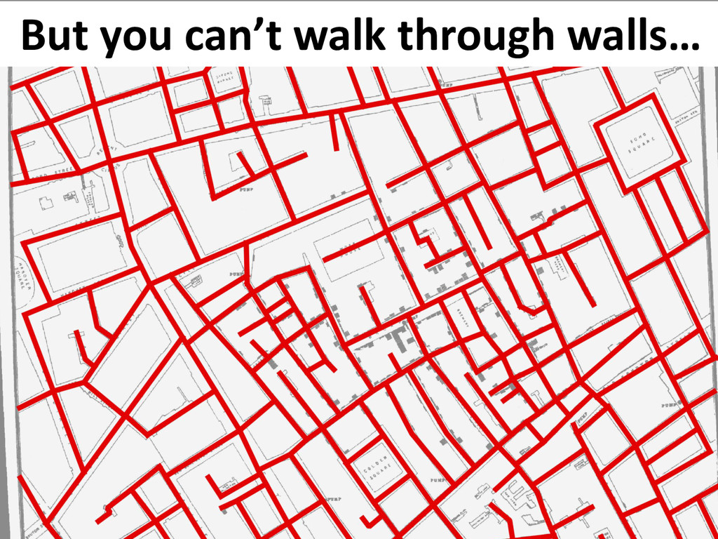 But you can't walk through walls…