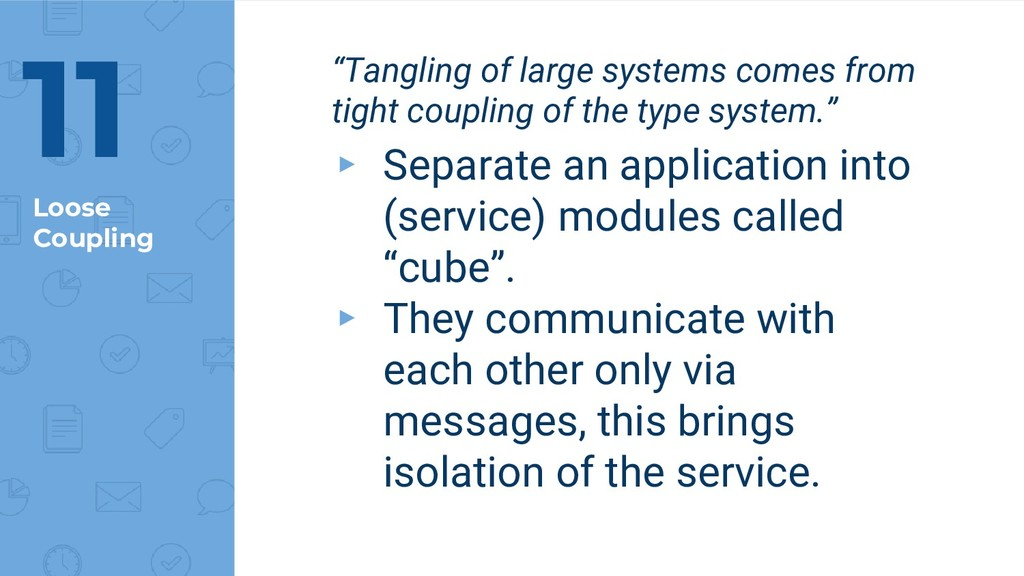 """Loose Coupling 11 """"Tangling of large systems co..."""