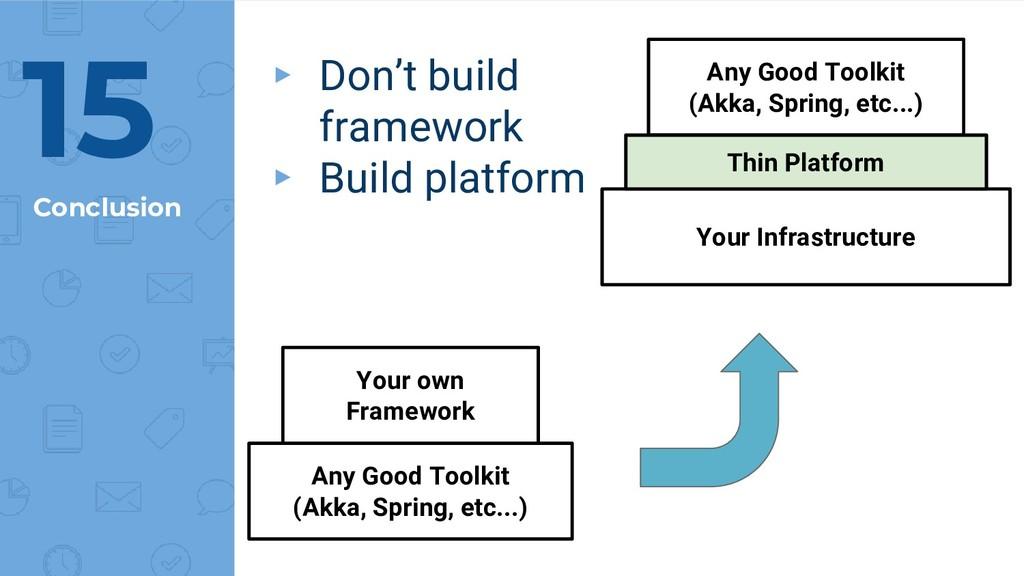 Conclusion 15 Any Good Toolkit (Akka, Spring, e...