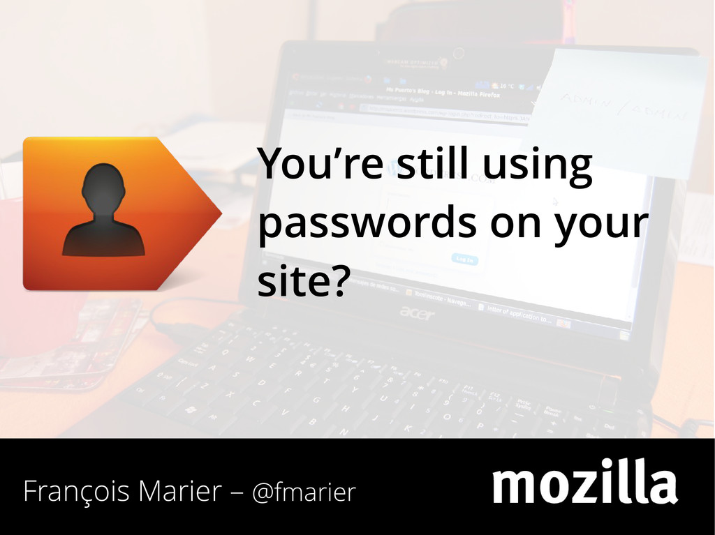 François Marier – @fmarier You're still using p...