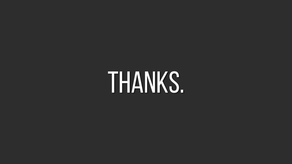 thanks.