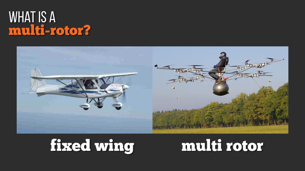 fixed wing multi rotor multi-rotor? what is a