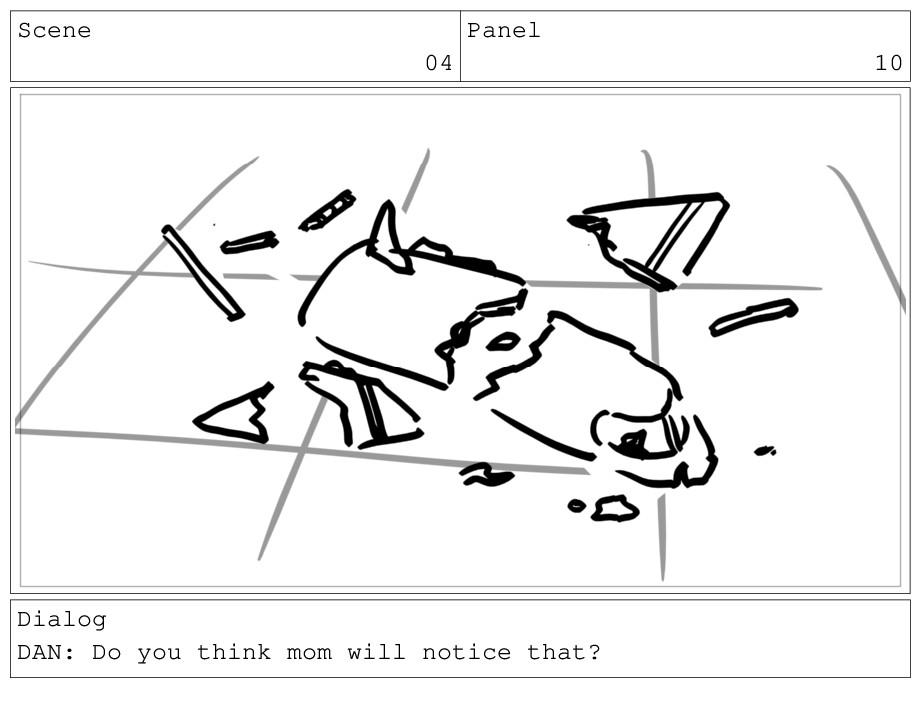 Scene 04 Panel 10 Dialog DAN: Do you think mom ...