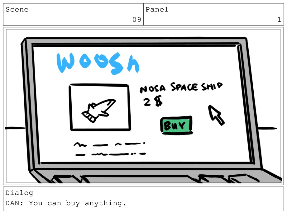 Scene 09 Panel 1 Dialog DAN: You can buy anythi...