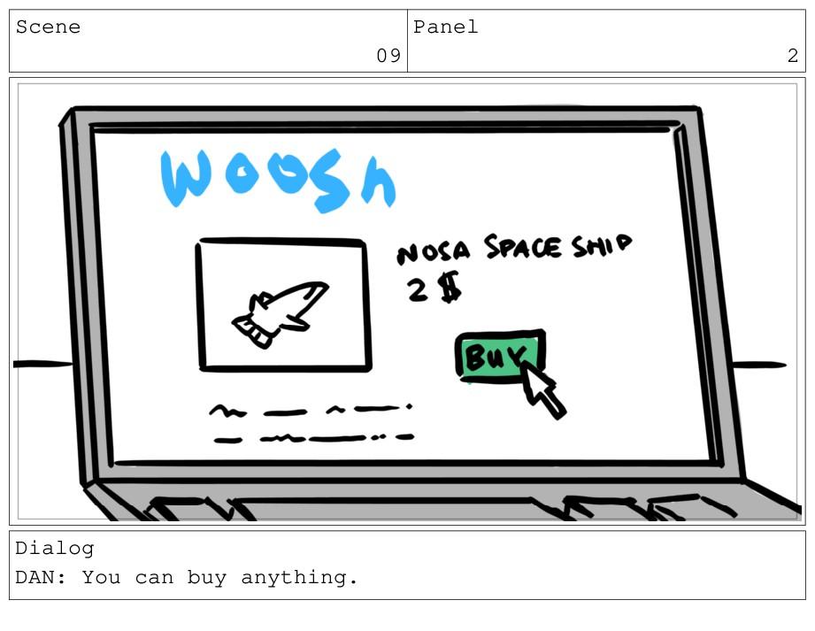 Scene 09 Panel 2 Dialog DAN: You can buy anythi...