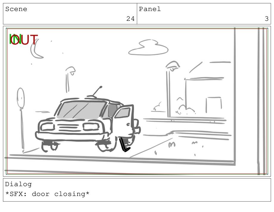 Scene 24 Panel 3 Dialog *SFX: door closing*