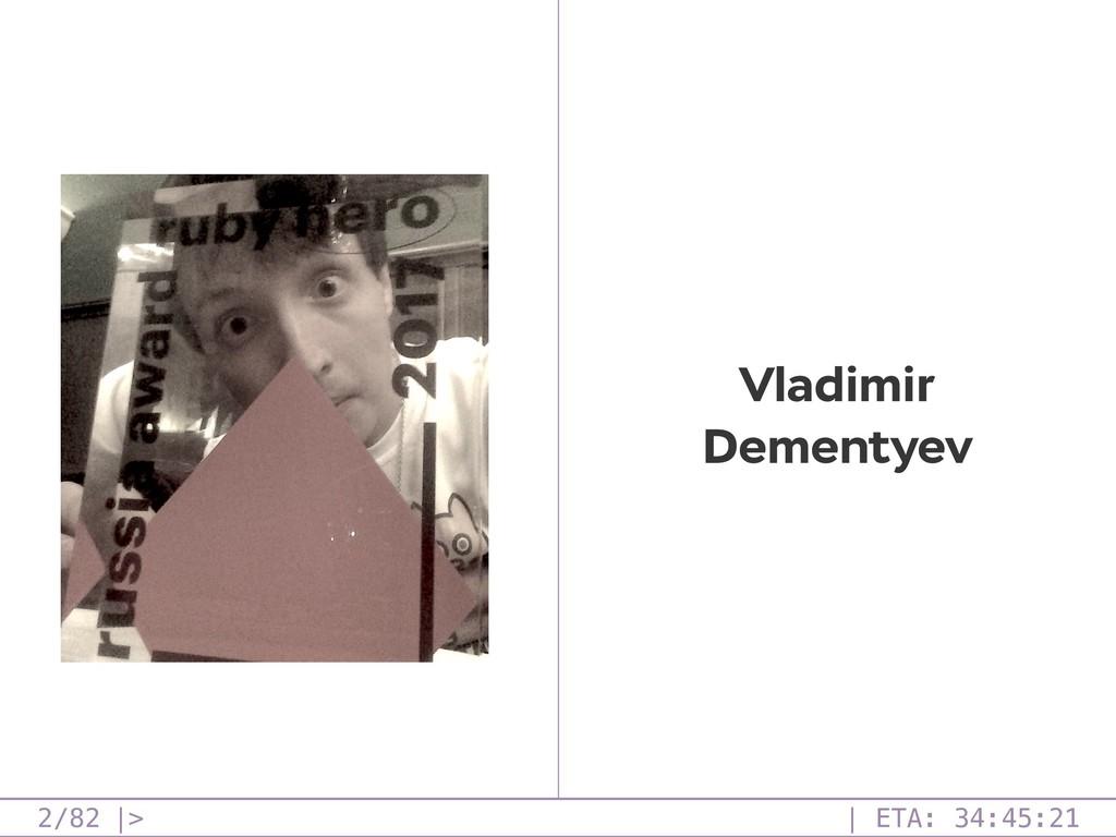 /82 2 Vladimir Dementyev  >   ETA: 34:45:21