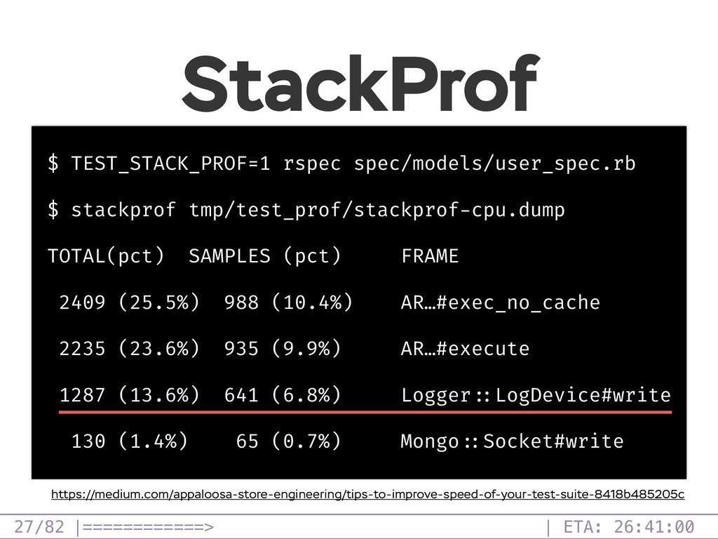 /82 StackProf $ TEST_STACK_PROF=1 rspec spec/mo...