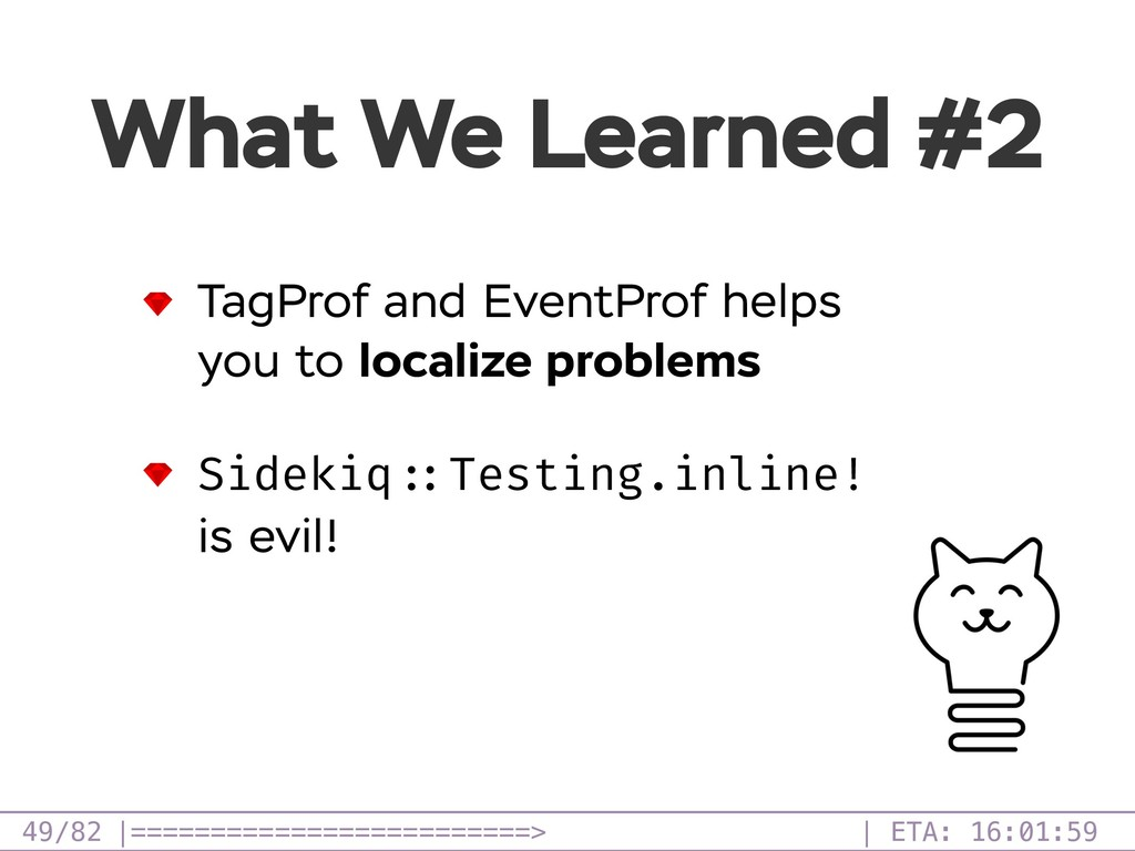 /82 What We Learned #2 49 TagProf and EventProf...
