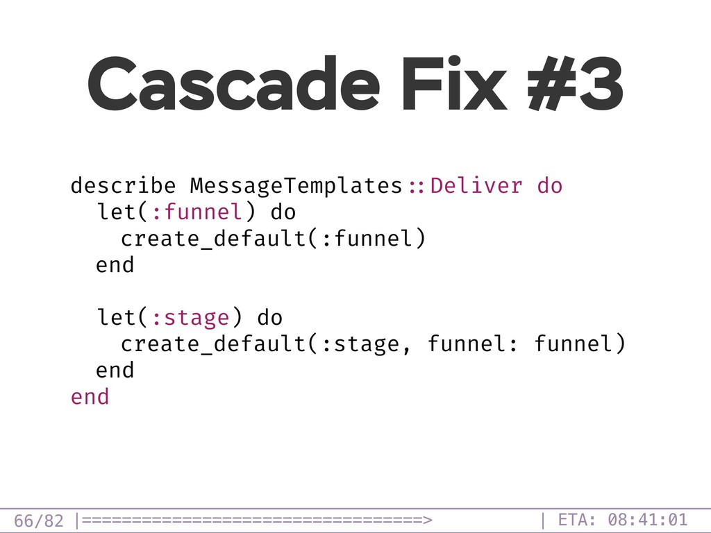 /82 Cascade Fix #3 66 describe MessageTemplates...