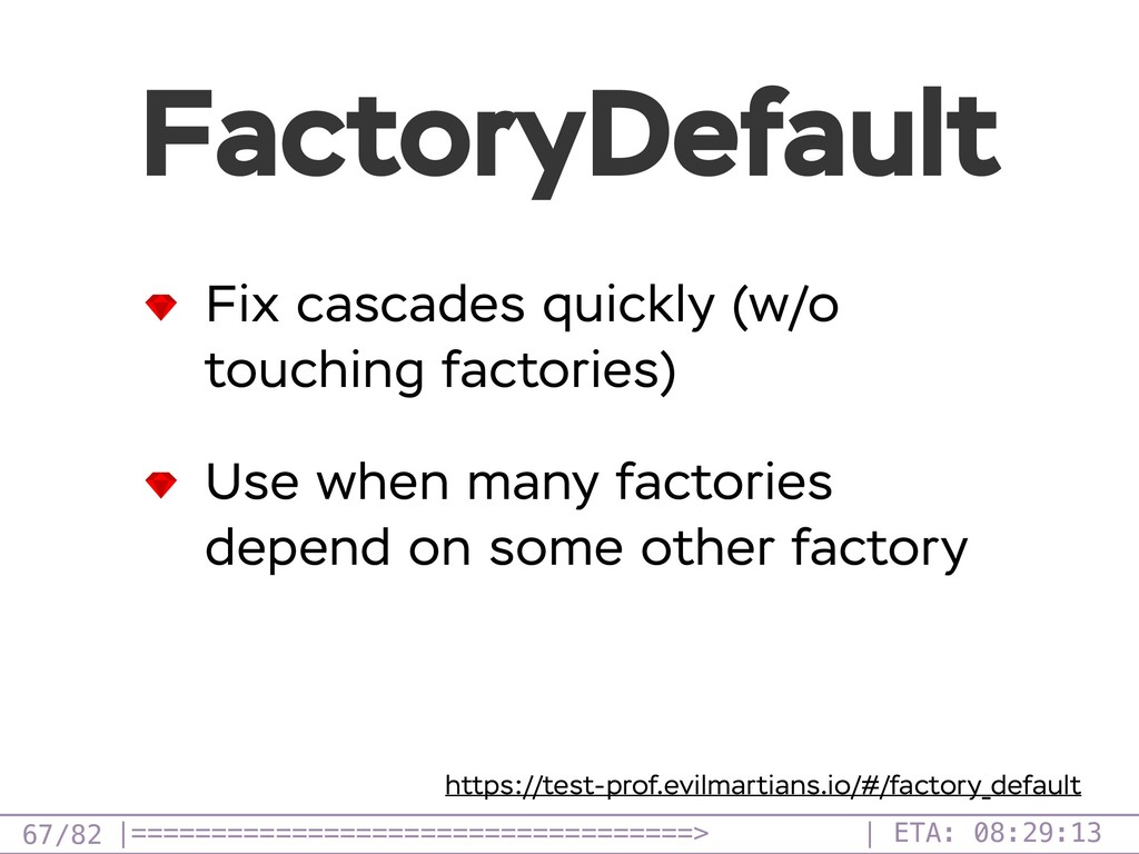 /82 FactoryDefault 67 Fix cascades quickly (w/o...