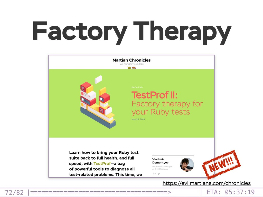 /82 Factory Therapy 72 NEW!!! https://evilmarti...