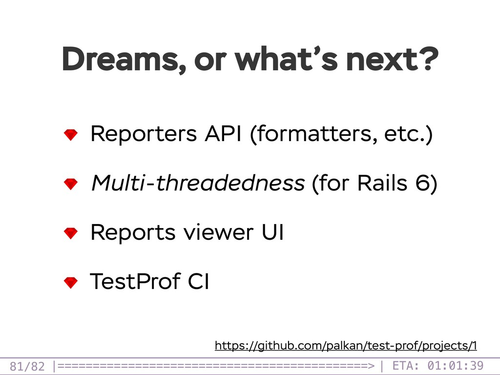 /82 Dreams, or what's next? 81 Reporters API (f...