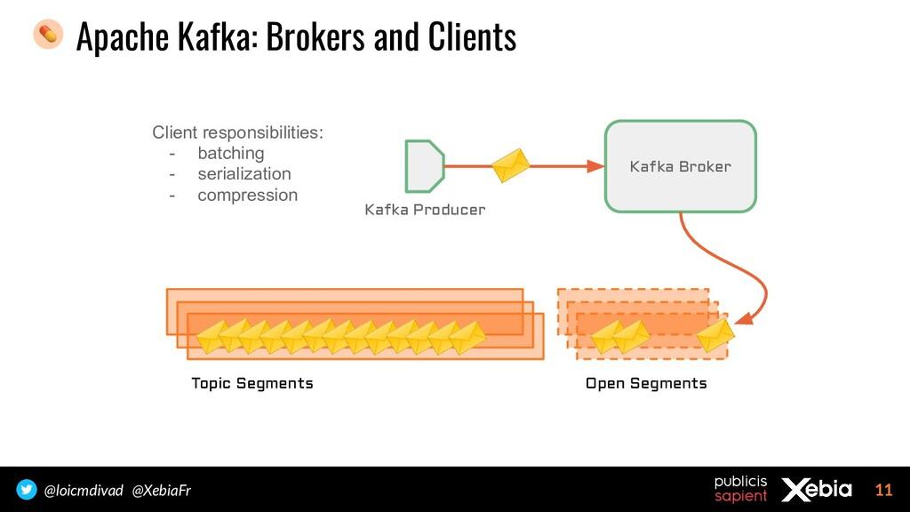 11 @loicmdivad @XebiaFr Apache Kafka: Brokers a...