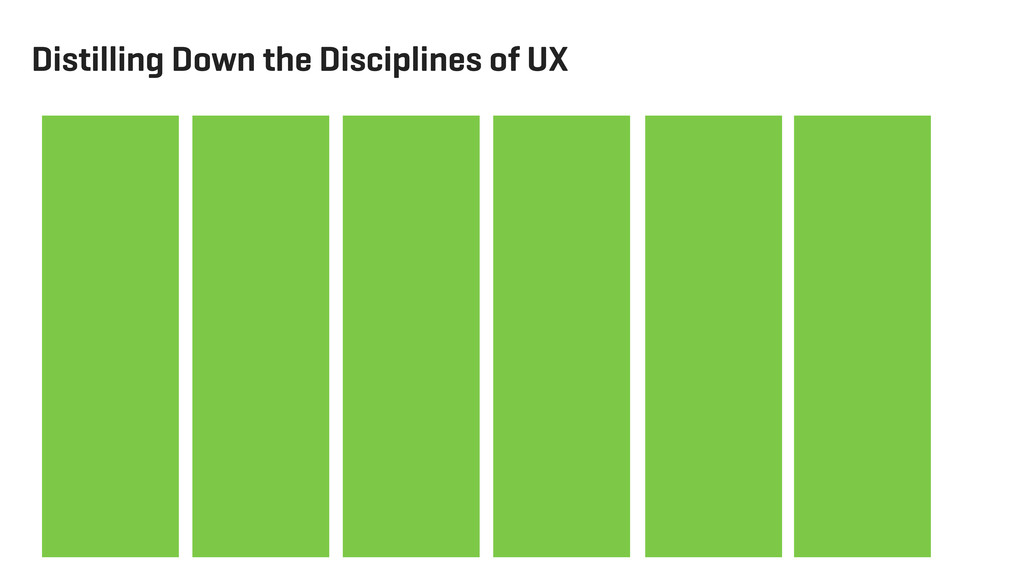 Distilling Down the Disciplines of UX