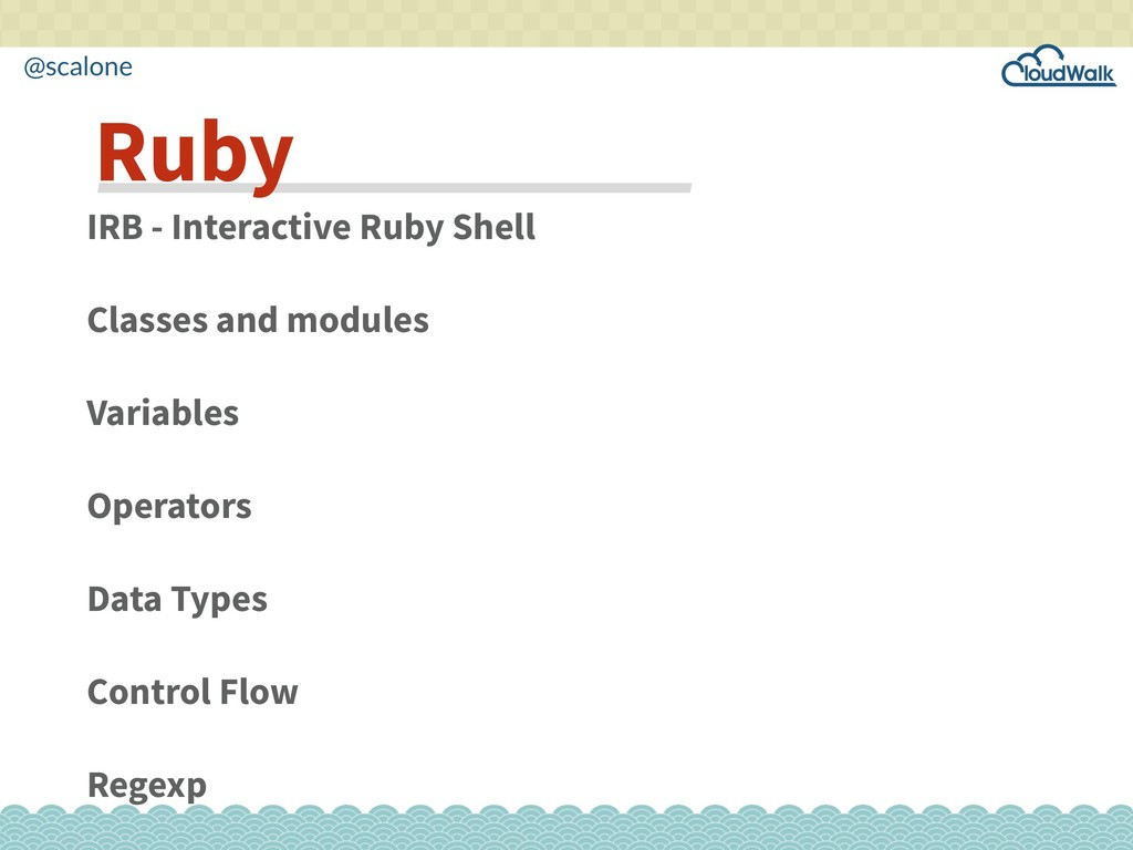 @scalone IRB - Interactive Ruby Shell Classes a...