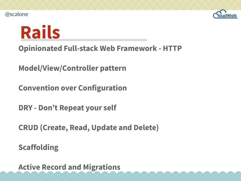 @scalone Opinionated Full-stack Web Framework -...