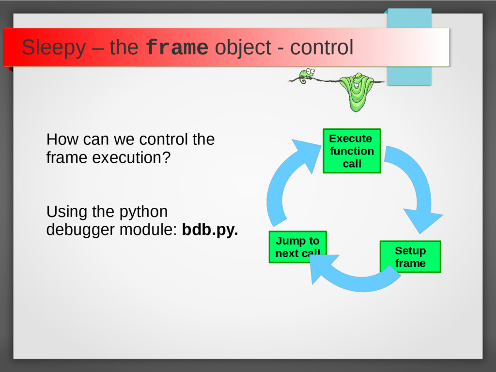 Sleepy – the frame object - control How can we ...
