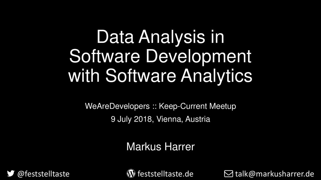 Data Analysis in Software Development with Soft...