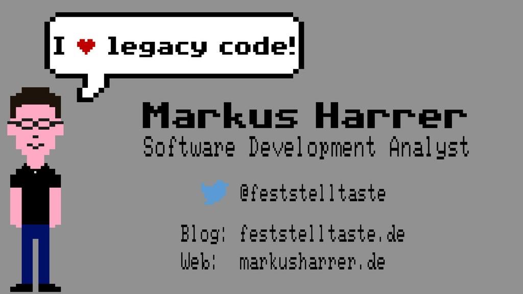 Markus Harrer Software Development Analyst @fes...