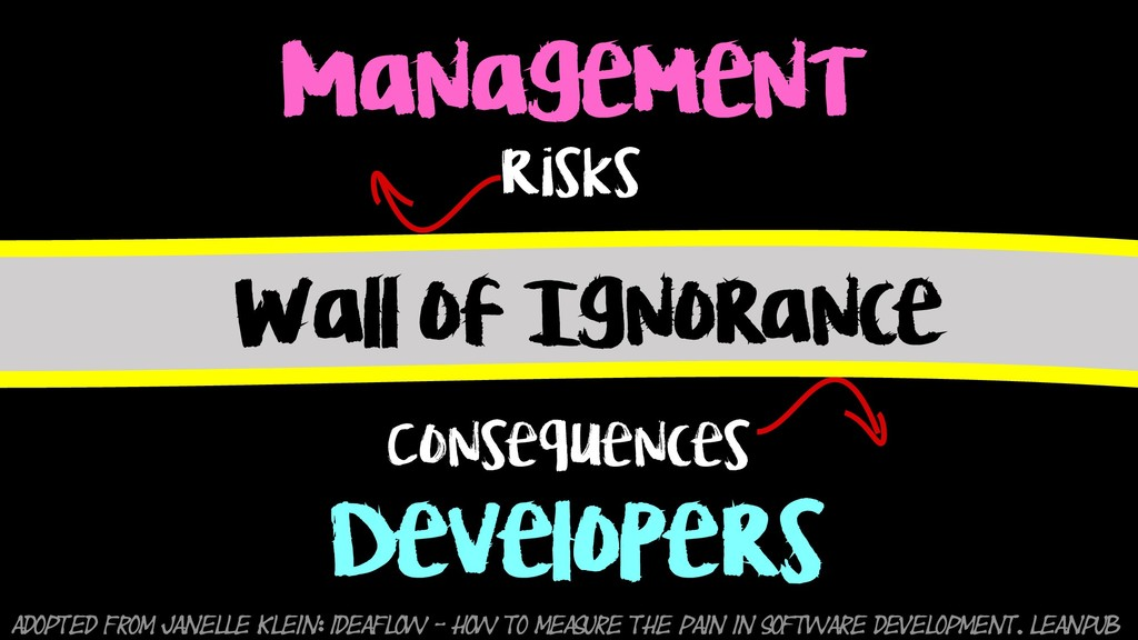 Management Developers Wall of Ignorance Risks C...