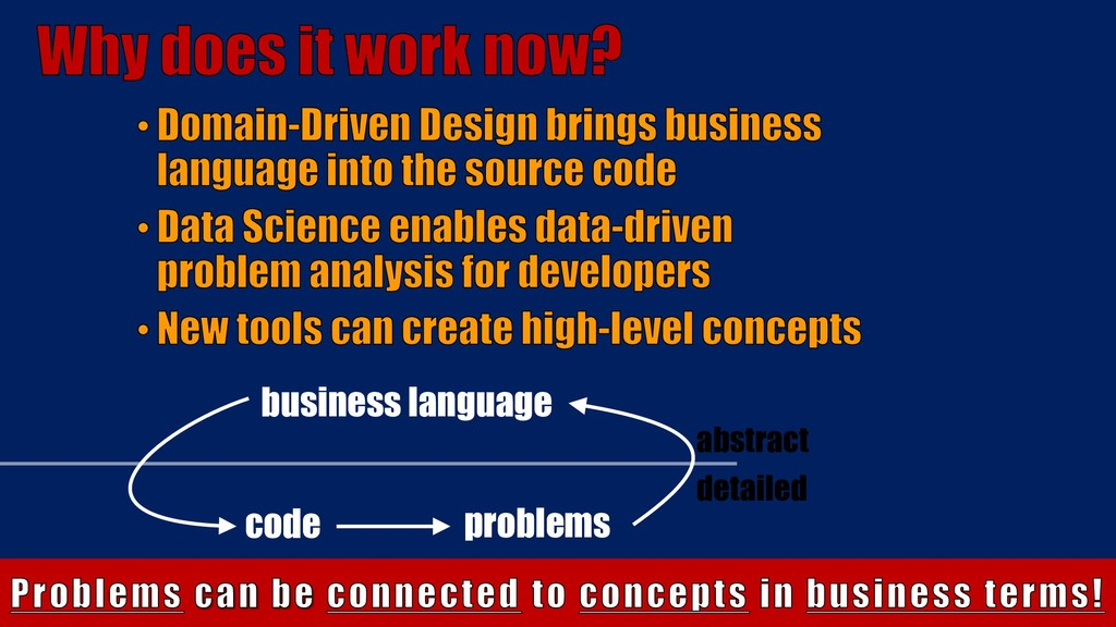 code problems business language abstract detail...