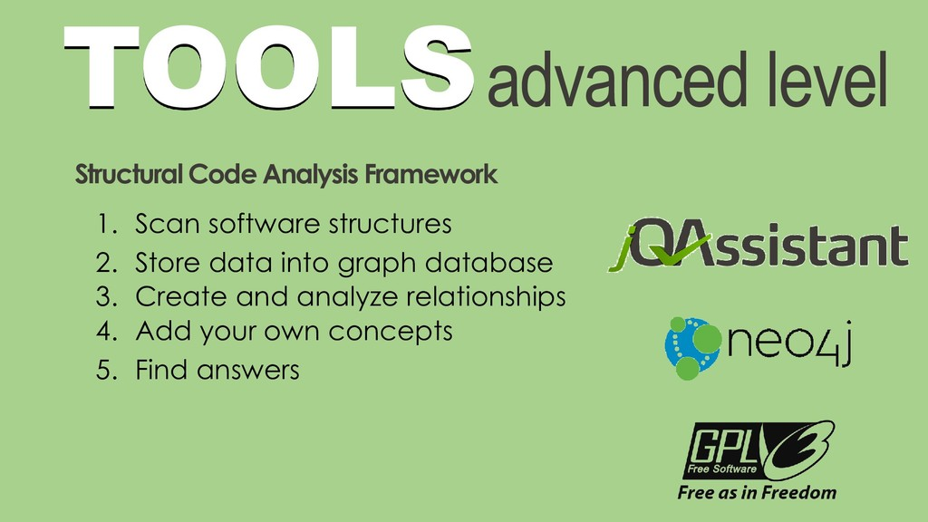 TOOLSadvanced level Structural Code Analysis Fr...