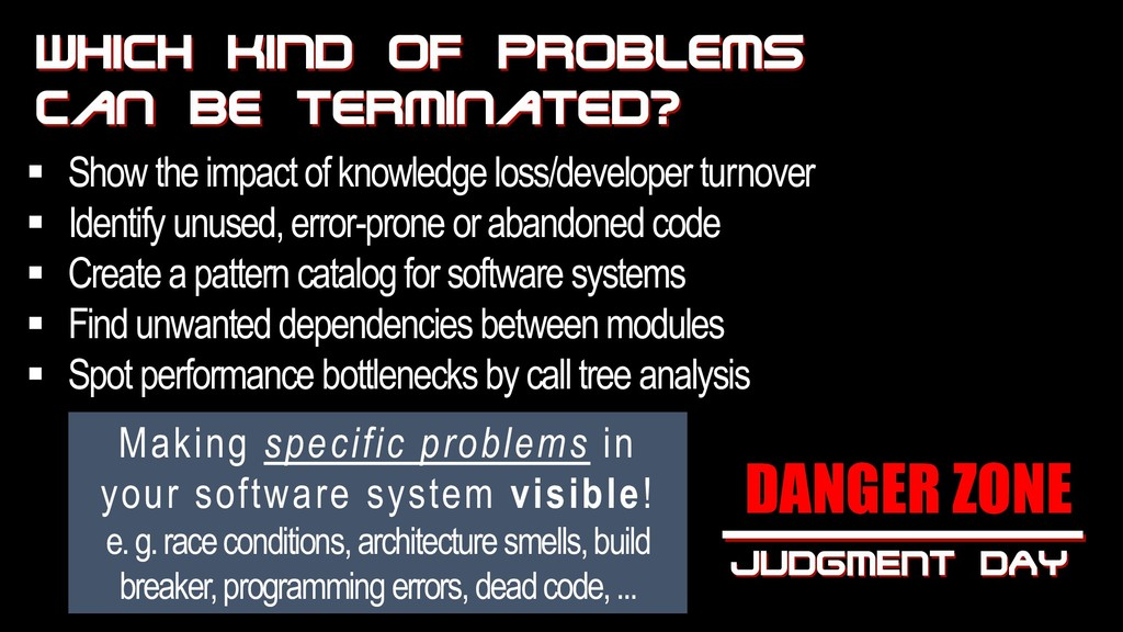 WhICH KIND OF problems can be terminated? Makin...