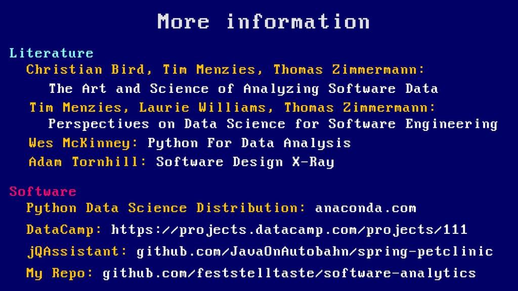 More information Literature Christian Bird, Tim...