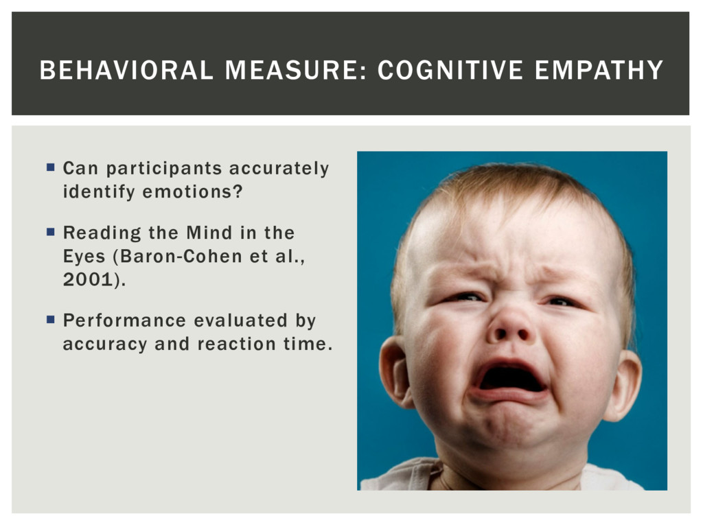 ¡  Can participants accurately identify emotion...