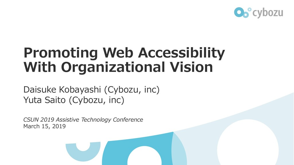 Promoting Web Accessibility With Organizational...