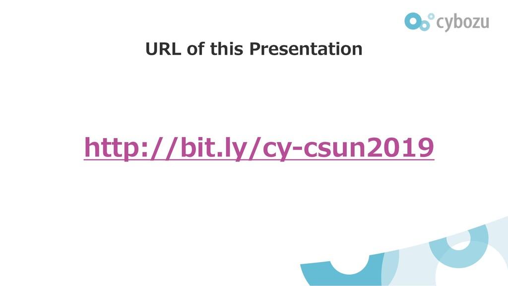 URL of this Presentation http://bit.ly/cy-csun2...
