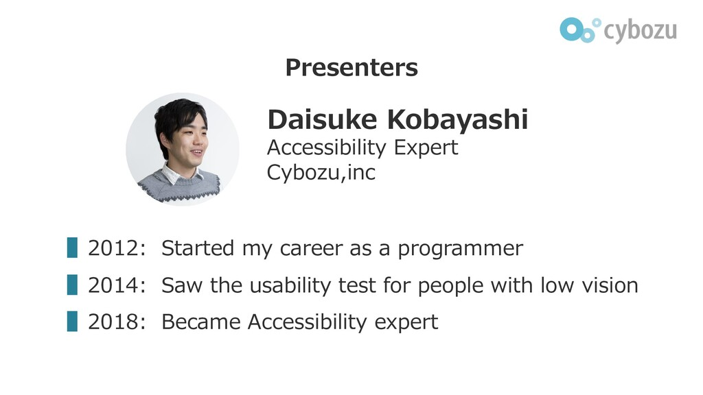 Presenters ▌2012: Started my career as a progra...