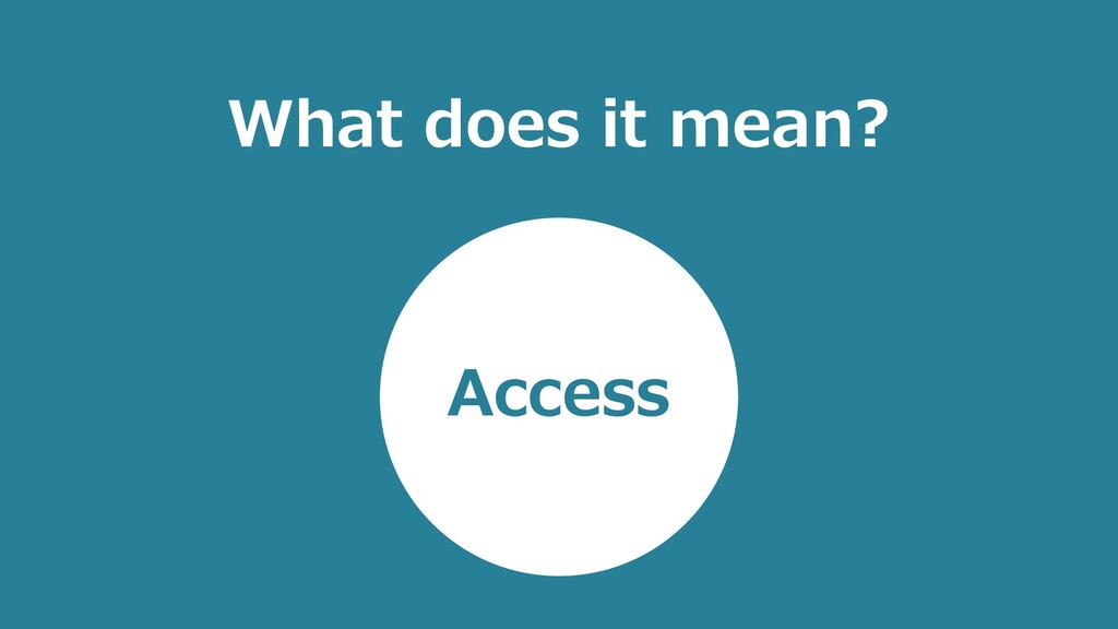 What does it mean? Access