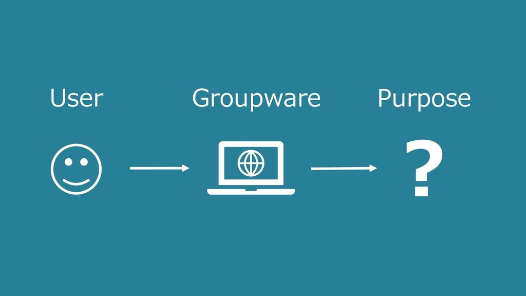 User Purpose ? Groupware
