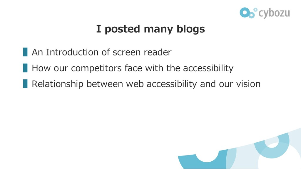 ▌An Introduction of screen reader ▌How our comp...