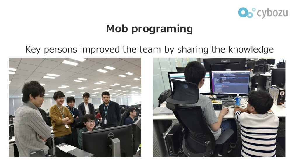 Mob programing Key persons improved the team by...