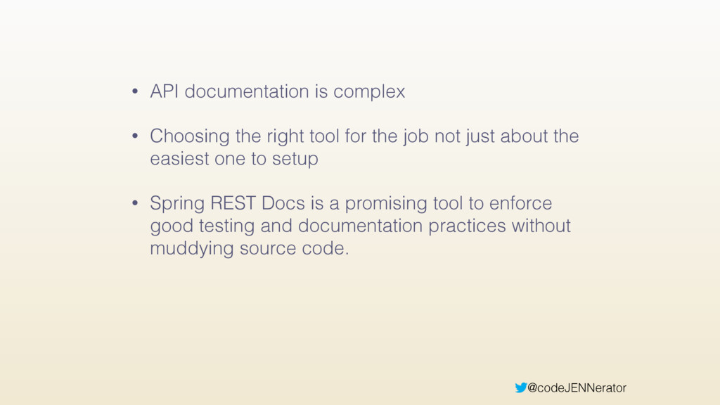 @codeJENNerator • API documentation is complex ...