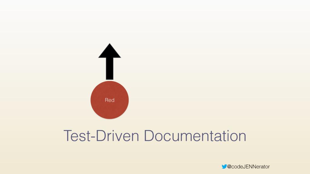 @codeJENNerator Test-Driven Documentation Red