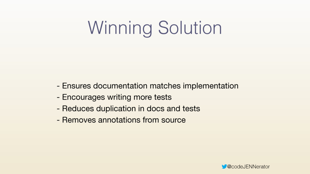 @codeJENNerator Winning Solution - Ensures docu...