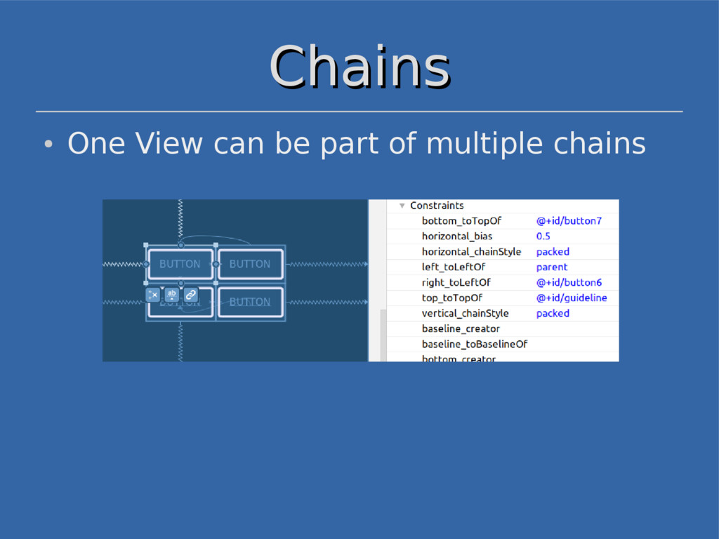 Chains Chains ● One View can be part of multipl...